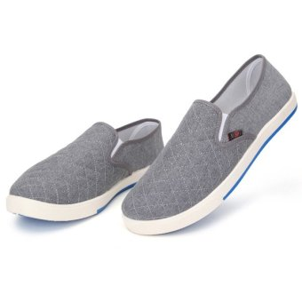 Teamtop Fashion Mens Canvas Driving Shoes Breathable Slip On Loafers Casual Cotton Shoes - intl