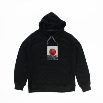 Áo khoác hoodie nữ in hình Sunrise In Japan (đen)