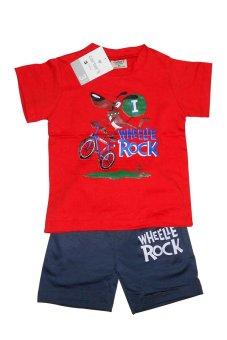 Bộ quần áo bé trai Wheelie Rock (Đỏ)