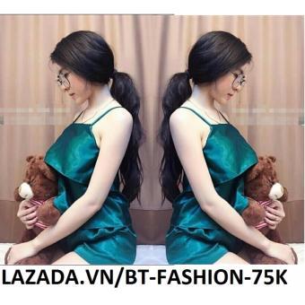 Đồ Bộ Phi Bóng - Ở Nhà, Đi Ngủ - BT Fashion DN006 (02 Lớp - Xanh Lục)
