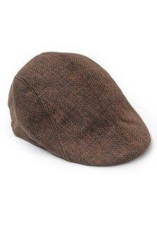 Fancyqube Men Newsboy Cap Hat Gatsby Flat Ivy Golf Cabbie Baker Beret Artist Coffee