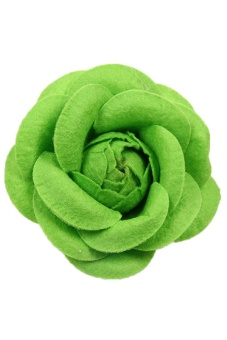 LALANG Camellia Flower Brooches DIY Craft Cloth Pin (Green) - Intl
