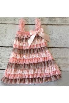 Moonar Kids Girl Baby Lace Bow-tie Sleeveless Dress (Pink) - intl