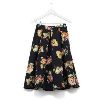 Chân váy xếp pli hoa New Look (Đen)