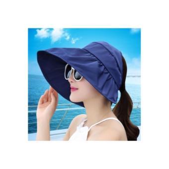 Mũ(nón)chống nắng gấp gọn tiện dụng(xanh lam)-0303