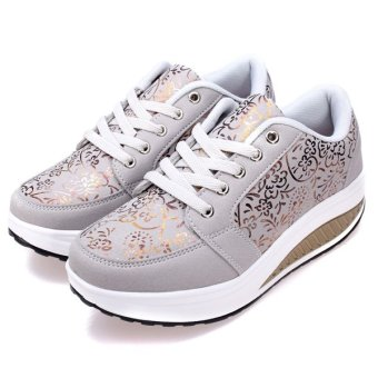 Women's Casual Shake Sneakers Shoes Non-slip Platform Shoes - intl