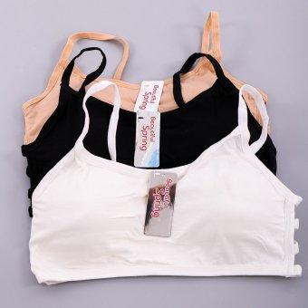Bộ 3 áo bra quai chéo sexy GT 247 (Đen + da + Trắng)