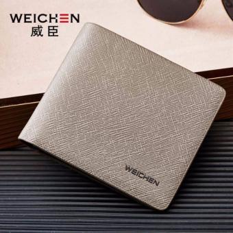 Bóp ví nam thời trang Weichan chính hãng T8101-1 (Xám)