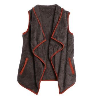 Winter Coar Jackset Womenenab Woo Outerwear Irreguar Vset (Gray)