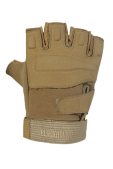 Fancyqube Army Full Finger Airsoft Combat Tactical Gloves (Brown) - Intl