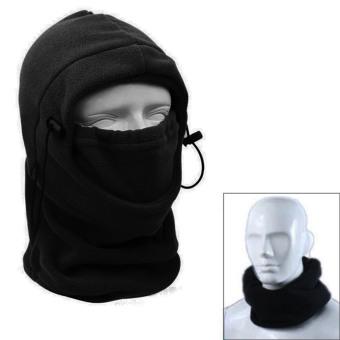 Vococal Outdoor Motorcycle Fleece Neck Hat Winter Ski Full Face Mask Cover Cap Black - Intl