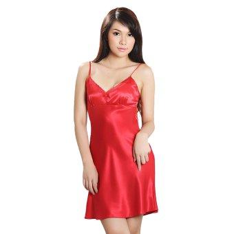 Đầm ngủ satin thanh lịch Wannabe DN121 (Đỏ)