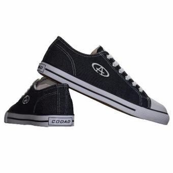 Giày Sneaker Nam Cổ Thấp CODAD CANVAS (Đen)