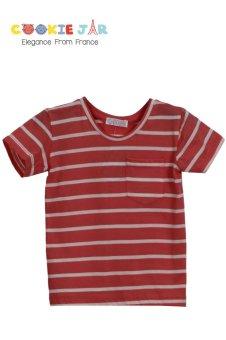 Áo thun kẻ ngang (Đỏ)