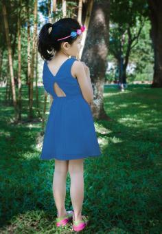 Đầm Ren Thun Genii Kids (Xanh dương)