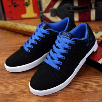 Giày sneaker nam Rozalo RMG8607BX-Đen Xanh