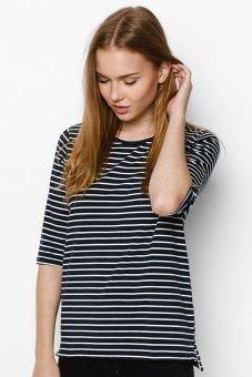 Áo thun nữ Half Sleeve Striped Suvi CF0073-013 (Xanh dương - Trắng)