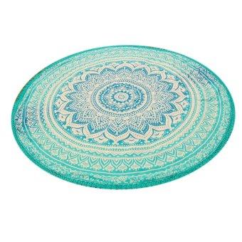 Summer Beach Towels Bohemian Style Printed Lace Tassels Round Blanket - intl