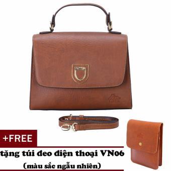 Túi đeo chéo nữ đa năng LATA HN34 (Bò đậm)+ Tặng ví Vn06