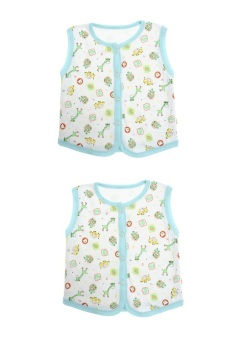 Bộ 2 áo khỉ bông trẻ em Nanio A0002-2Xd (Xanh Đậm)
