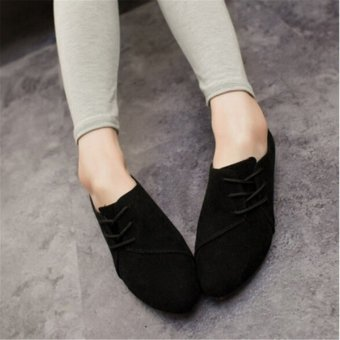 Fashion Womens Classics Casual Shoes Oxfords Loafers Sneaker Low Flats Heeled - intl
