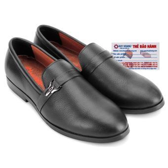 HL7734 - Giày nam Huy Hoàng đính móc khóa màu đen