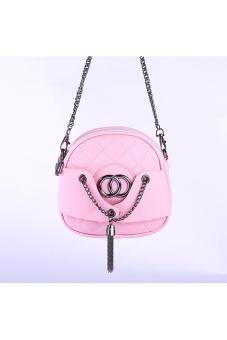 Túi xách đeo chéo thời trang BB 2 ngăn(pink)