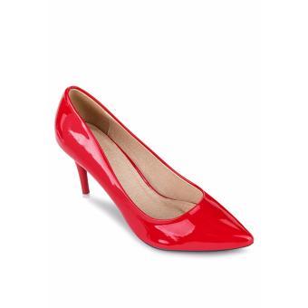 Giày Cao Gót JANVID – L095 (Đỏ)