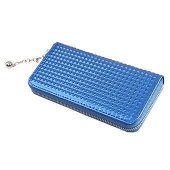 Bluelans Women Zip PU Leather Clutch Case Wallet Purse (Blue) (Intl)