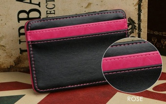 FLAMA Block Resilient Wallet Money Clip for Unisex Horizontal(Rose) - intl