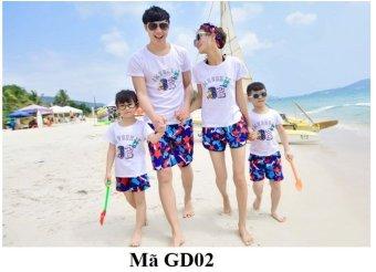 Bộ 3 Áo phông đi biển cho cả gia đình GD02