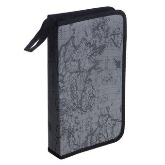 Bluelans World Map DVD 80 Discs Storage Holder Case Wallet PVC Bag (Grey) (Intl)