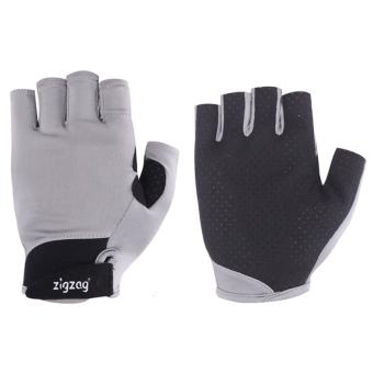 zigzag GLV00411- Găng tay Sport chống nắng UPF50+ (xám đen)