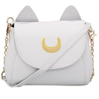 Linemart Cosplay PU Leather Women Girls Handbag Shoulder Bags ( Grey ) - intl