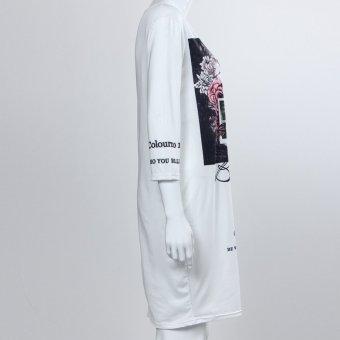 ... Womens Fashion Printing Loose Dress - intl