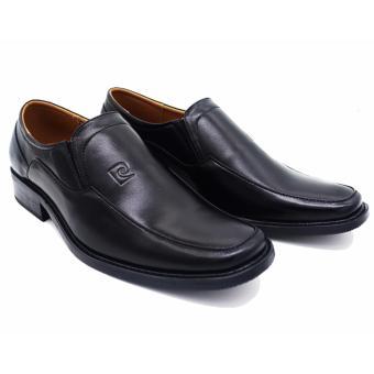 Giày da không buộc dây cao cấp LB063-BLACK