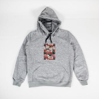 Áo khoác hoodie nữ in hình French Bullbloom (xám nhạt)
