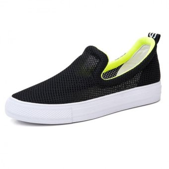 2016 Summer Women Mesh Loafers Breathable Platform Shoes(Black) - intl