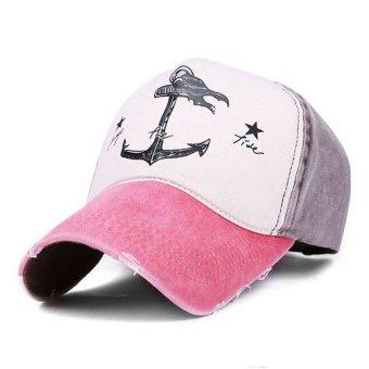 Men Women Baseball Visor Adjustable Hat Vintage Trucker Sport Golf Snapback Cap Watermelon Red - intl