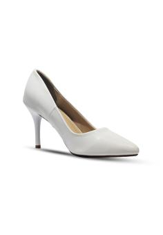 Giày cao gót 7 phân ANALE (Trắng)