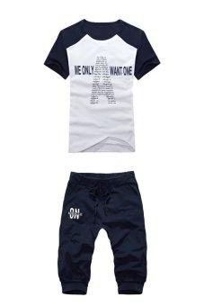 Bộ trang phục thể thao nam (Xanh (Đen) phối Xám)