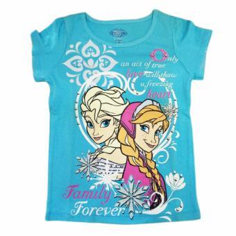 Áo thun tay ngắn bé gái Disney Frozen O Love Heart Elsa Anna size 5