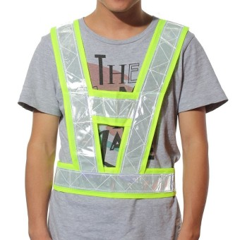 High Visibility Traffic Waistcoats Vest Security Reflective Stripes Jacket Safe Yellow NEW - intl