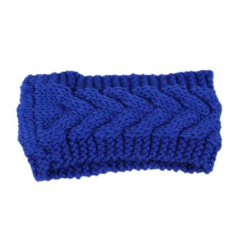 Fancyqube Women Ear Warmer Headwrap Headband Navy Blue
