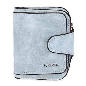 Vintage Style Double Layer Design Hasp Type Multicard Bit Wrist Wallet for Women - intl