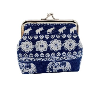 Fashion Women Canvas Lady Wallet Elephant Floral Purse Clutch Bag NY - intl