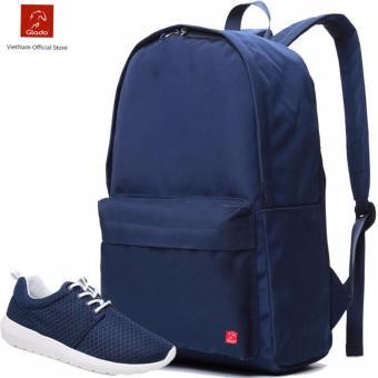Combo Balo Cylinder Laptop BLL002BU + Giày Sneaker GS076BU (Xanh) - CB022