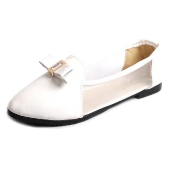 Giày Búp Bê Bệt Soyoung Bet 010 (Trắng)