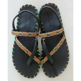 Sandal thổ cẩm cao gót (Đen) TFH8533 #36