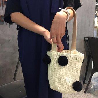 New Tide Women Fashion Drawstring Bucket Shoulder Tote Sling Bag - intl